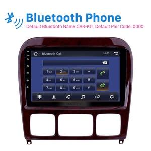 Image 4 - Harfey 9 Android 9.0 Car Radio GPS Navi for Mercedes Benz S Class W220 S280 S320 S350 S400 S430 S500 1998 2005 Audio with AUX
