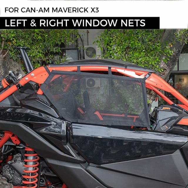 UTV Cặp Trái & Phải Cửa Sổ Lưới An Toàn Lưới Bảo Vệ Cho Có Thể Am Maverick X3 Canam Có Thể Am 2017 2021
