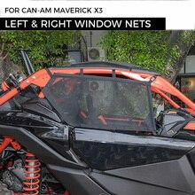 UTVคู่ซ้ายขวาหน้าต่างNetsป้องกันความปลอดภัยสำหรับCan Am Maverick X3 Canamสามารถ2017 2021