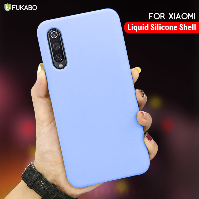 Liquid Silicone Case For <font><b>Xiaomi</b></font> <font><b>Redmi</b></font> note 9 Lite 10 8 <font><b>7</b></font> 6 5 Pro Case For <font><b>Xiaomi</b></font> Mi 9T 9S 9SE CC9E CC9 K20 K30 Pro <font><b>Back</b></font> <font><b>Cover</b></font> image