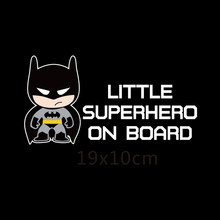 Aliauto Little Superheroes Baby aan Boord Auto-Styling Reflecterende Auto Stickers/Decals voor Ford Focus Vw Golf 6 7 Hyundai Honda Kia(China)