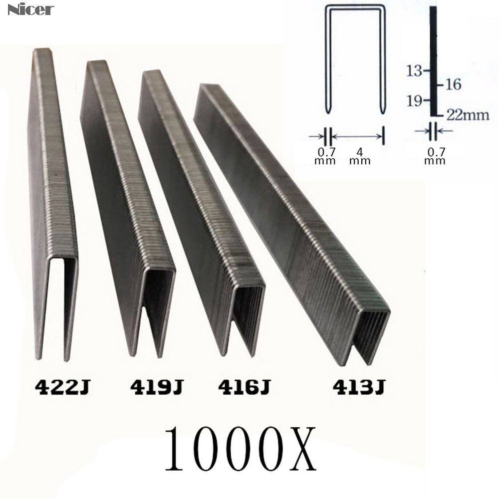 Electric Pneumatic Nail Gun U-nail Gun Staple U Staples 413J/416J/419J/422J DIY Carpentry Tools