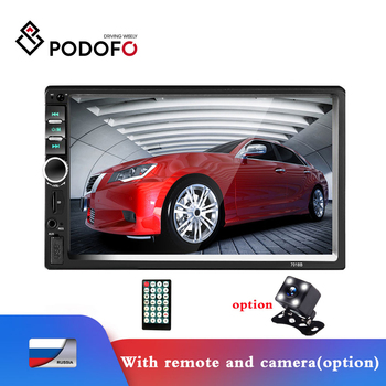 Podofo 2Din Car Radio Car Video Player 7''HD Player MP5 Touch Screen Digital Display Bluetooth Multimedia 2DIN AUtoradio Stereo image