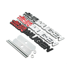 Metal Grill Car Styling MUGEN Badge Front Grille Sport Auto Emblem For Honda Civic CRV