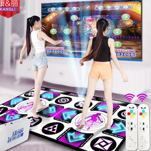 JRGK беспроводной контроллер коврики для игры фитнес английское меню танцевальные коврики для ТВ ПК компьютерный флэш-светильник направляющий двойной танцевальный коврик