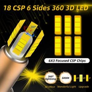 Image 2 - Süper parlak H7 Led 6 yan araba far ampulü 360 ° CSP 12000LM H1 H11 H8 H9 9005 HB3 9006 HB4 6000K yüksek güçlü araba lambaları