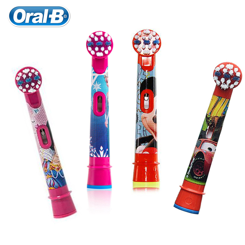 Original Oral B Replacement Brush Heads For Kids Electric Toothbrush Soft Bristle Small Toothbrush Head image