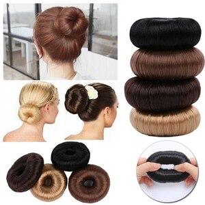 New Hot Fashion Elegant Women Ladies Girls Magic Hair Donut Hair Ring Bun Maker Hair Styling Tools Accessories Wig Ponytail(China)