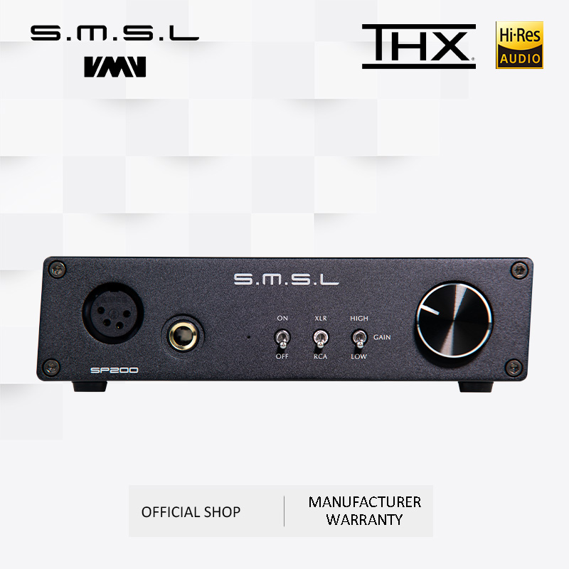 SMSL SP200 THX AAA 888 Technology Balanced Headphone Amplifier With XLR RCA Input
