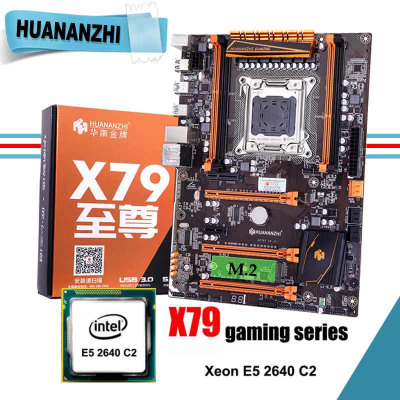 أوصى HUANANZHI ديلوكس X79 LGA2011 اللوحة مع وحدة المعالجة المركزية إنتل زيون E5 2640 C2 2 سنوات الضمان كل اختبار قبل الشحن
