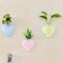 Silicone Vase Stick Wall Hanging Vase Small Vase Planter Silicone Decorative Stickers Flower Pot Hanging Pots Home Decor #jink(China)