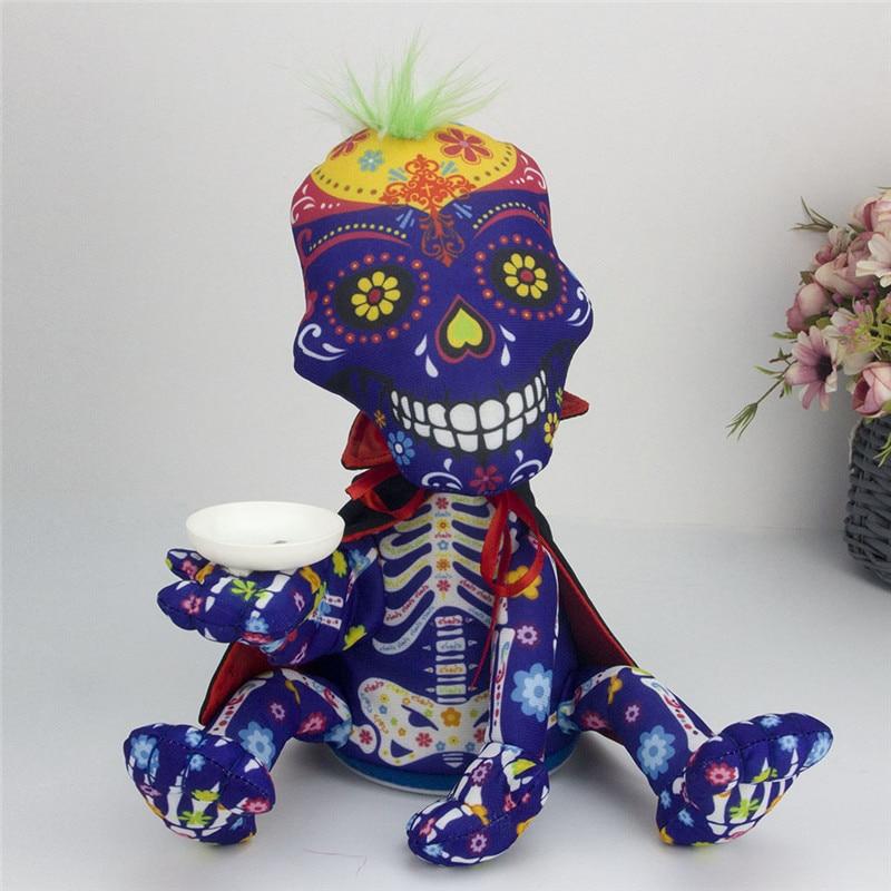 Halloween Plush Toys Money-Control Ghost Skeleton Skull Bones Animated Dancing Dolls Electric Funny Children