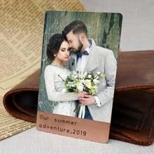 Персонализированный бумажник с вставкой для карт металлический