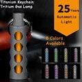Außen EDC Tritium Gas Lampe Automatische Licht 25 Jahre Titan Legierung Schlüssel Ring Leuchtstoffröhre Lebensrettende Notfall Lichter-in Outdoor-Werkzeuge aus Sport und Unterhaltung bei