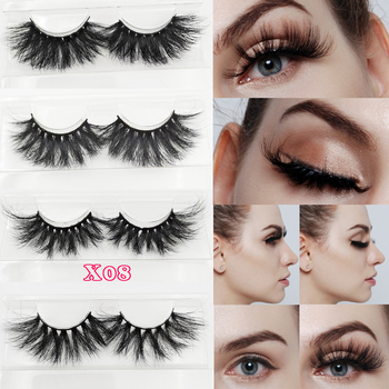 25mm fluffy mink eyelashes 3D extra long mink hair eyelashes 3D mink hair eyelashes 3D Mink Lashes Real Siberian Mink  lashes