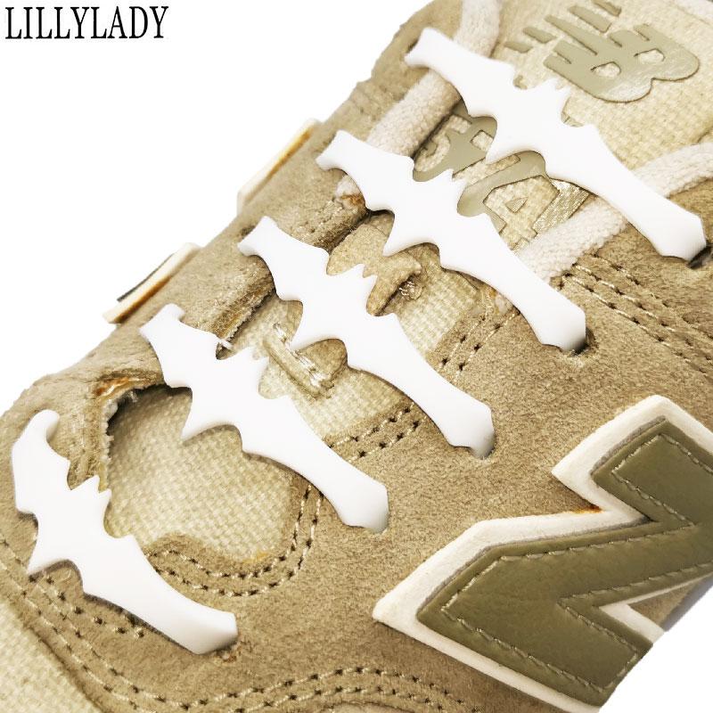 Child Bat Silicone No Tie Shoelaces 12pcs/lot Elastic Shoe Laces Accessories Elastic Lace Shoelace Creative Lazy Silicone Laces