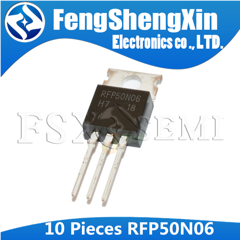 10pcs RFP50N06 TO-220 P50N06 TO220 50N06 50A, 60V, <font><b>0.022</b></font> Ohm, N-Channel Power MOSFETs image