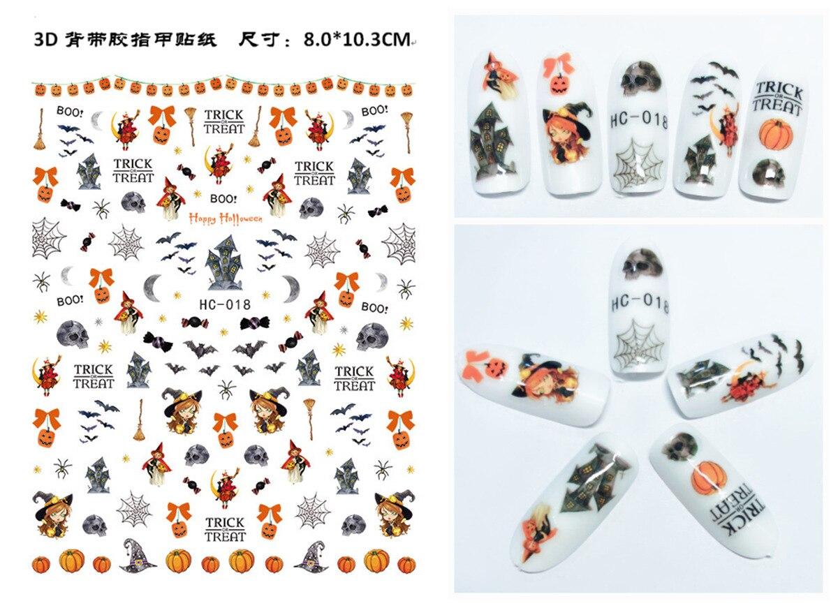 Hc012-027 Autumn Maple Leaf Nail Sticker Environmentally Friendly Nail Sticker New Style Halloween Nail Polish Adhesive Paper