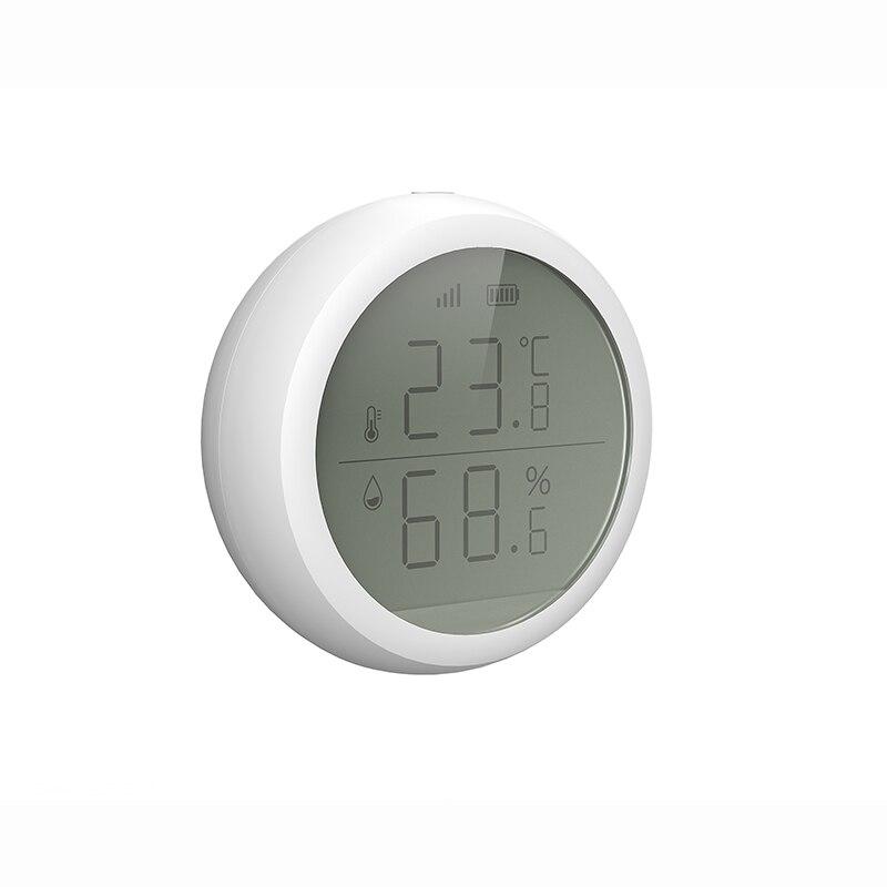 ZigBee Temperature And Humidity Sensor With LCD Screen Display Working With TuYa ZigBee Hub, Battery Powered Smart Life