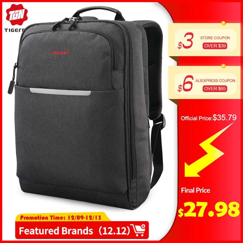 Tigernu  Multifunction USB Charging Backpack Travel Men 14 15.6 Inch Laptop Bag Backpacks For Teenager School Bag  For Teens