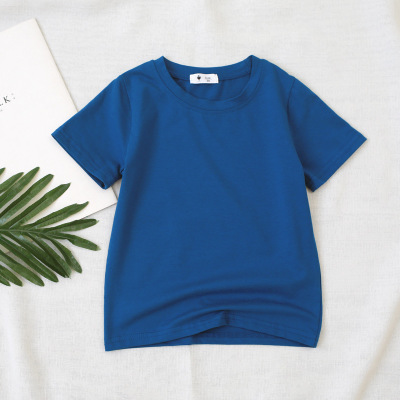 VIDMID children t-shirt Baby boys girls Cotton short sleeves tops tees clothes T-shirt kids summer solid color clothing  4006 04 3