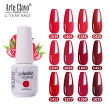 Arte clavo 8 мл красный цвет Гель лак для серий долговечная
