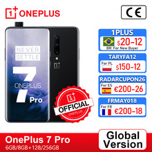 Versão global oneplus 7 pro smartphone 6gb 128gb 48mp câmeras snapdragon 855 2k + tela amoled fluido oneplus loja oficial;code: 1PLUS($20-12:For Brazail new buyer), br21tech($50-7)ae21tech29($199-29)tech199cymye($199-2