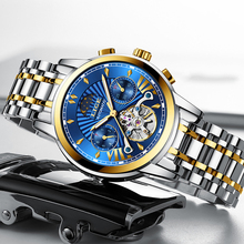2020 Hot Mens Watch LIGE New Top Luxury Business Automatic Mechanical Watch Men Date Moon phase Stainless Steel Waterproof Clock new luxury fashion mens automatic mechanical watches carnival men moon phase clock male stainless steel gold watch montres homme
