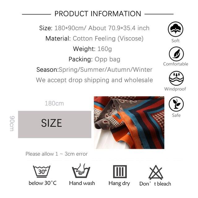 Écharpe à imprimé en coton pour femme 2