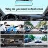 E-ACE Car Mirror Dvr 1080P FHD Dash Cam Dual Lens Video Recorder Night Vision Car Camera Registrar Dvrs With Rear View Camera 3