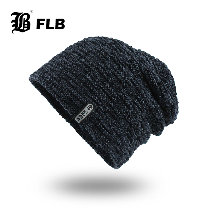 [FLB] Winter Hats For Men Skullies Beanie Hat Winter Cap Men Women Wool Scarf Caps Set Balaclava Gorras Bonnet Knitted HatF18081
