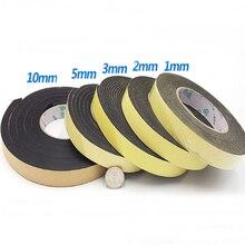 0.5-10mm espessura 10mm-100mm largura eva preto forte adesão esponja espuma fita de borracha anti-colisão selo tira