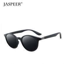 JASPEER Polarized Sunglasses For Men Round Lens  Sun glasses Mens Driver Plastic Frame UV400 Eyeglasses