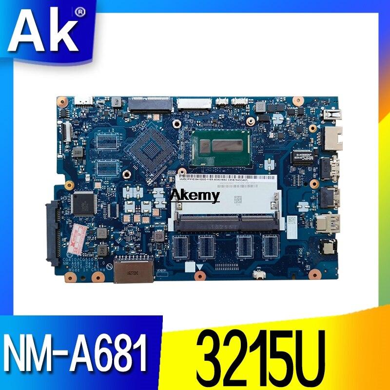 Free Shipping For Lenovo Ideapad 100-15IBD 100 15IBD CG410/CG510 NM-A681 Notebook Motherboard 3215U CPU