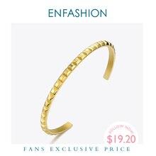 Enfashionピラミッドカフブレスレットゴールドカラーステンレス鋼パンクスパイク女性のジュエリーpulseira BF192008