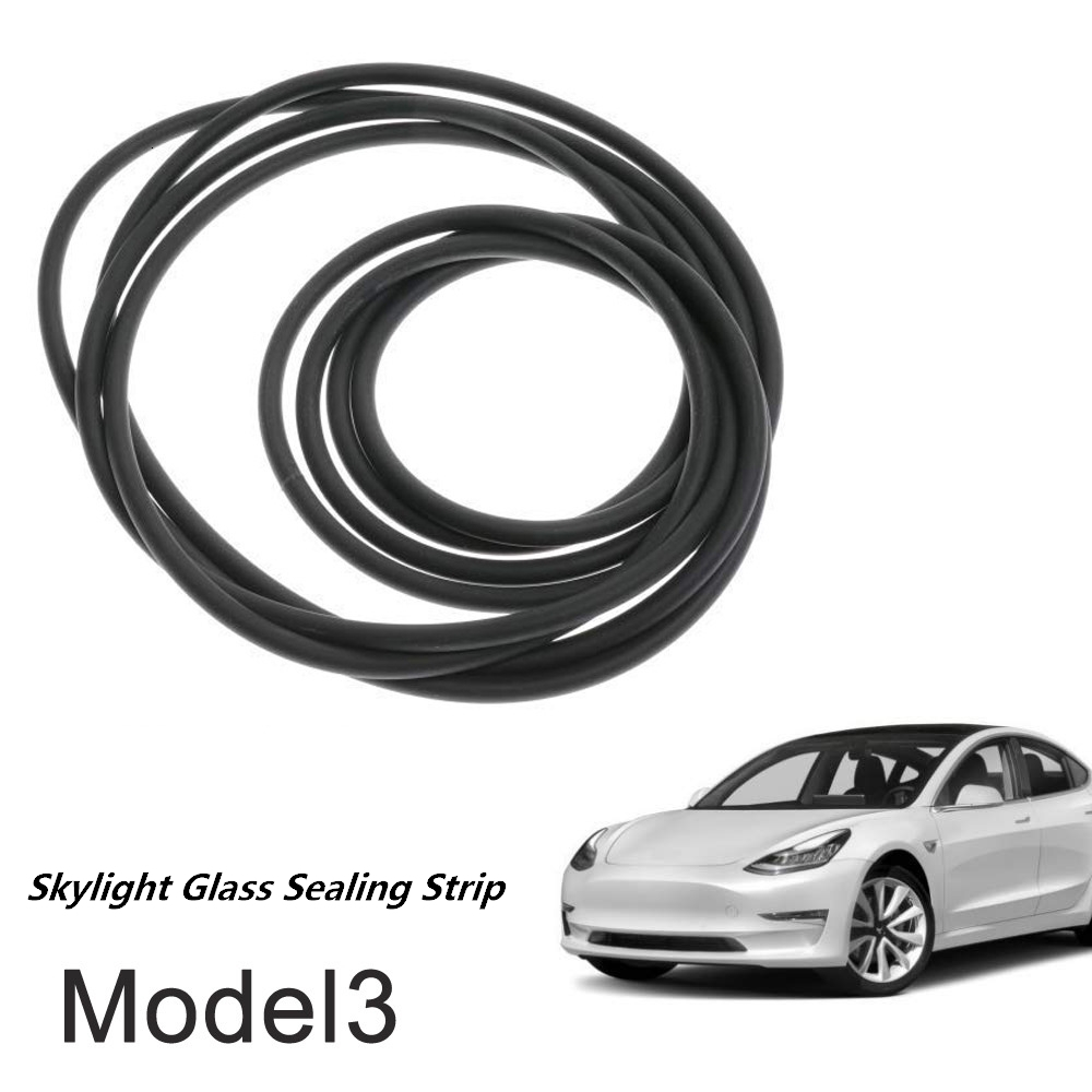 Car Accessories Windshield Roof Wind Guard Noise Lowering Reduction Seal Kit Skylight glass sealing strip for Tesla Model 3
