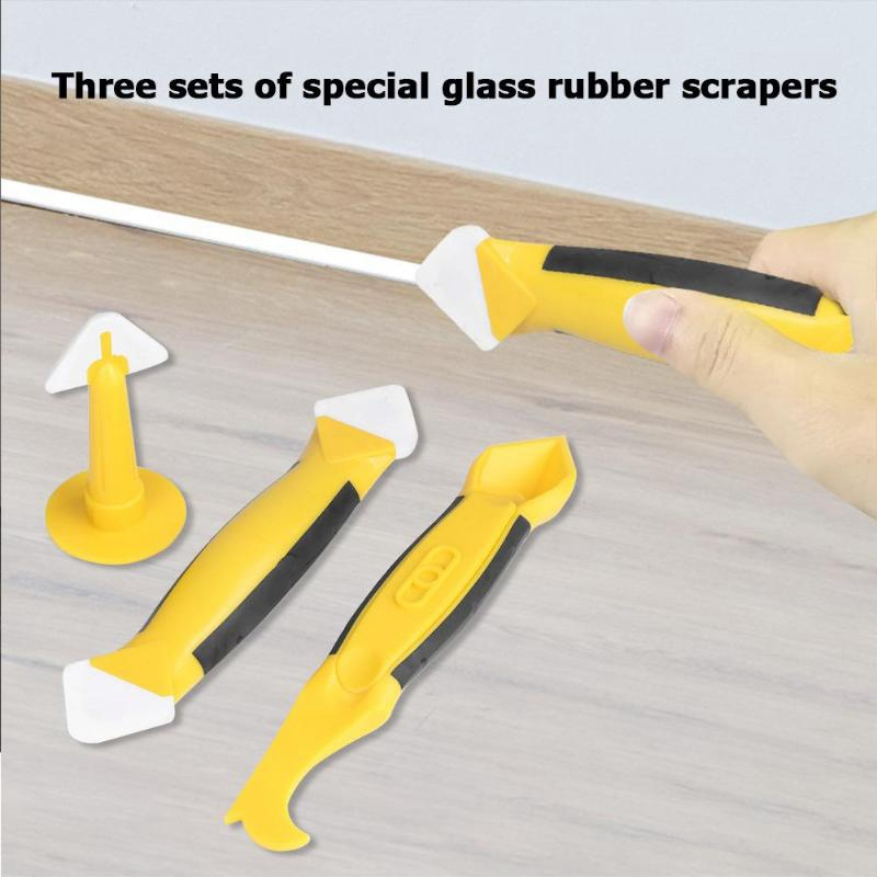 3Pieces Silicone Caulking Tool Set Sealant Replace /& Removal w// Caulk Nozzle