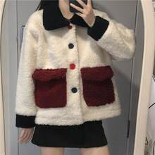 Куртка женская хлопковая утепленная пальто из овечьей шерсти