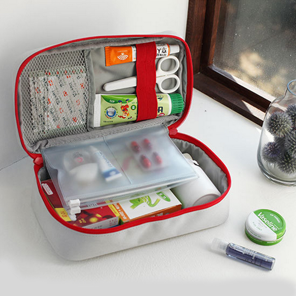 1pcs Medical Kit First Travel Camping Mountaineer Aid Kit Drug Sorting And Sundries Collection Kit Bag Medical Kit Home Storage