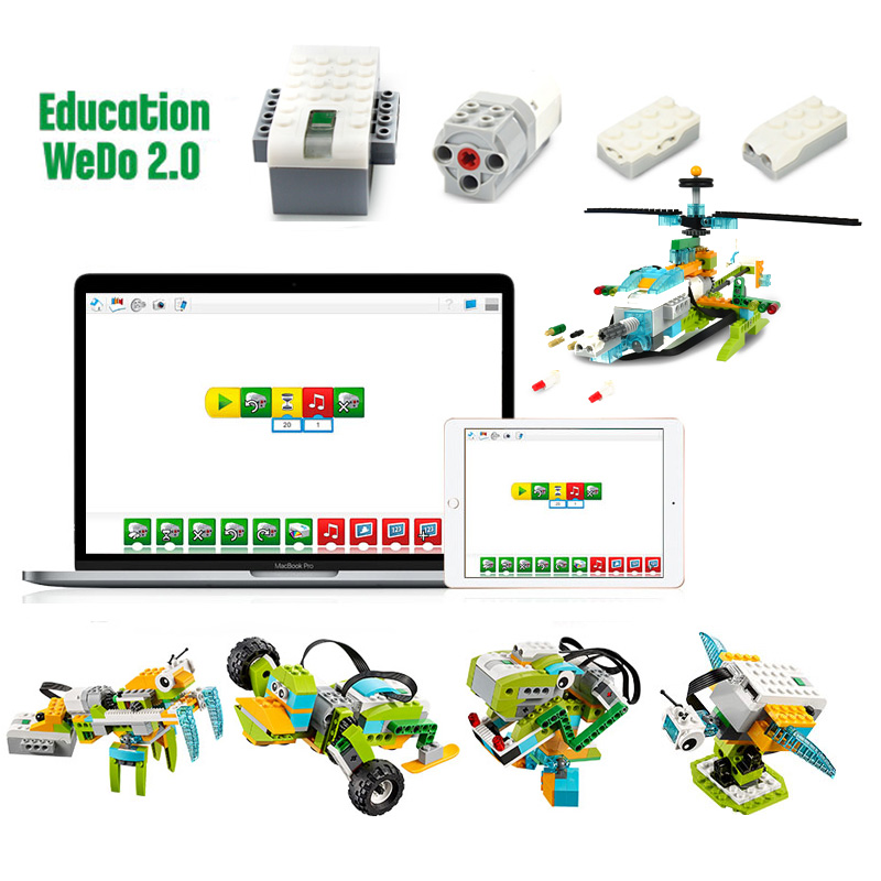 2019 NEW Technic WeDo 3.0 Robotics Construction Set Building Blocks Compatible With Logoes Wedo 2.0 Educational DIY Toys
