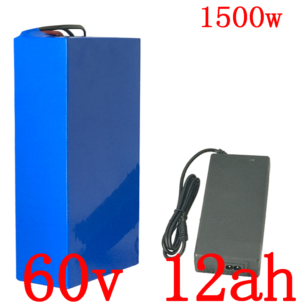 60V battery pack 60V 12AH electric bicycle battery 60v 12ah lithium battery for 60V 1000W 1500W 1800W electric scooter motor