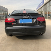 For Audi A6 C6 2009 2010 2011 2012 Carbon Fiber Belgium Style Exterior Rear Trunk Spoiler Car Tail Boot Wing Decoration