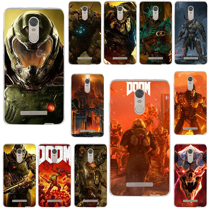 Soft TPU Transparent Cell Phone Cases for Xiaomi Mi Redmi Note Max 2 3 4 4X 5 5A 6 7 9T CC9 CC9e Pro Games Doom Monster image