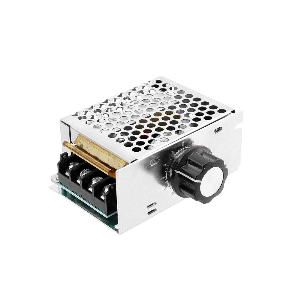 Regulador de voltaje de 4000W 220 V AC SCR regulador de voltaje regulador de velocidad de Motor electrónico regulador de voltaje de 220 V regulador de termostato|Atenuadores| - AliExpress