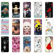 Telefoon Geval Voor Huawei GR3 TAG-L21 TAG-L01 TAG-L03 TAG-L13 G8 Mini Tag L21 Ultra Zachte Tpu Back Cover Siliconen Gevallen(China)