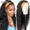 Unice hair 100% ludzka szpilka do włosów szal na głowę peruka woda fala ludzki włos peruka nie skubanie peruki dla kobiet bez kleju nie szyć