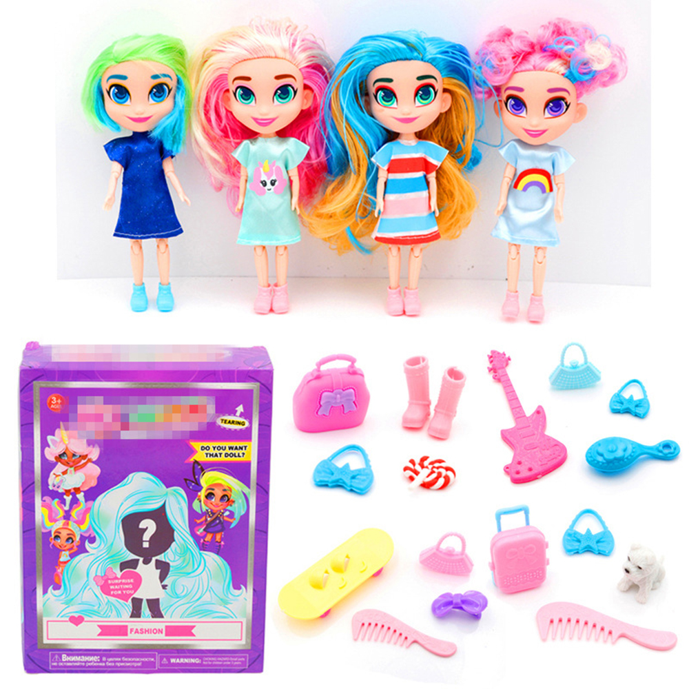 LOLS Surprise Dolls Hairdorable Dolls For Girls Indoor Kids Girls With Hair Beauty Surprise Dolls For Children Girl Gift Toys