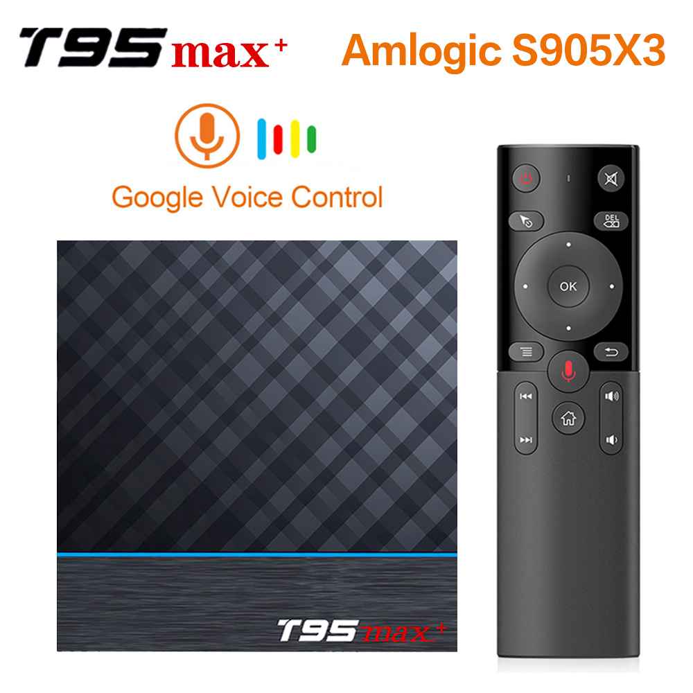 VONTAR T95 MAX Plus Smart TV Box Android 9.0 TV Box Amlogic S905X3 1080P H.265 8K 24fps Google Player Store Netflix Youtube 4K