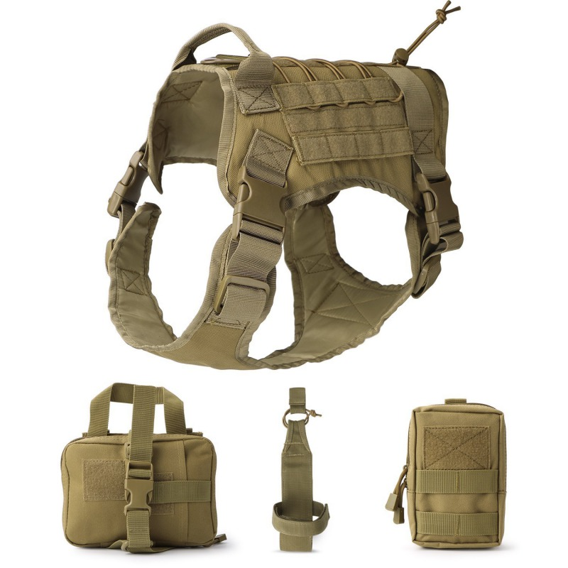 Hunting Vest Hunting Tactical Dog Modular Harness With No Pull Front Molle Clip Law Enforcement K9 Working Cannie