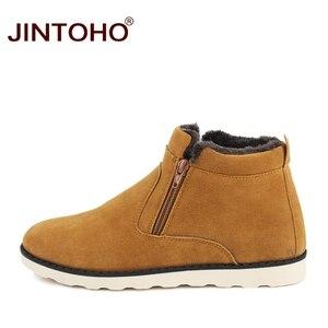 Image 5 - JINTOHO موضة جديدة الشتاء حذاء رجالي أحذية الثلوج غير رسمية رخيصة الشتاء الرجال الأحذية جلد الغزال أحذية للرجال الشتاء الدافئة أحذية رياضية